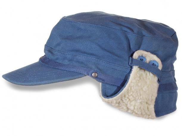 Шапка утепленная синего цвета