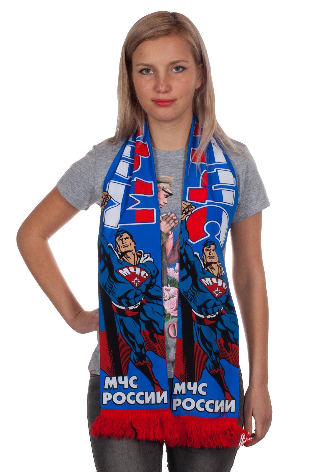 Шарф МЧС Супермен шёлковый от Военпро