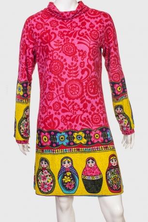 Шикарное молодежное платье с броским принтом от Palme