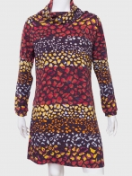 Шикарное женское платье с воротником-хомут от Kruebeck