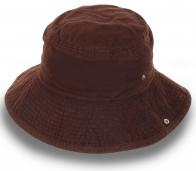 Шляпа с подворотом. Натуральный хлопок, плотный материал