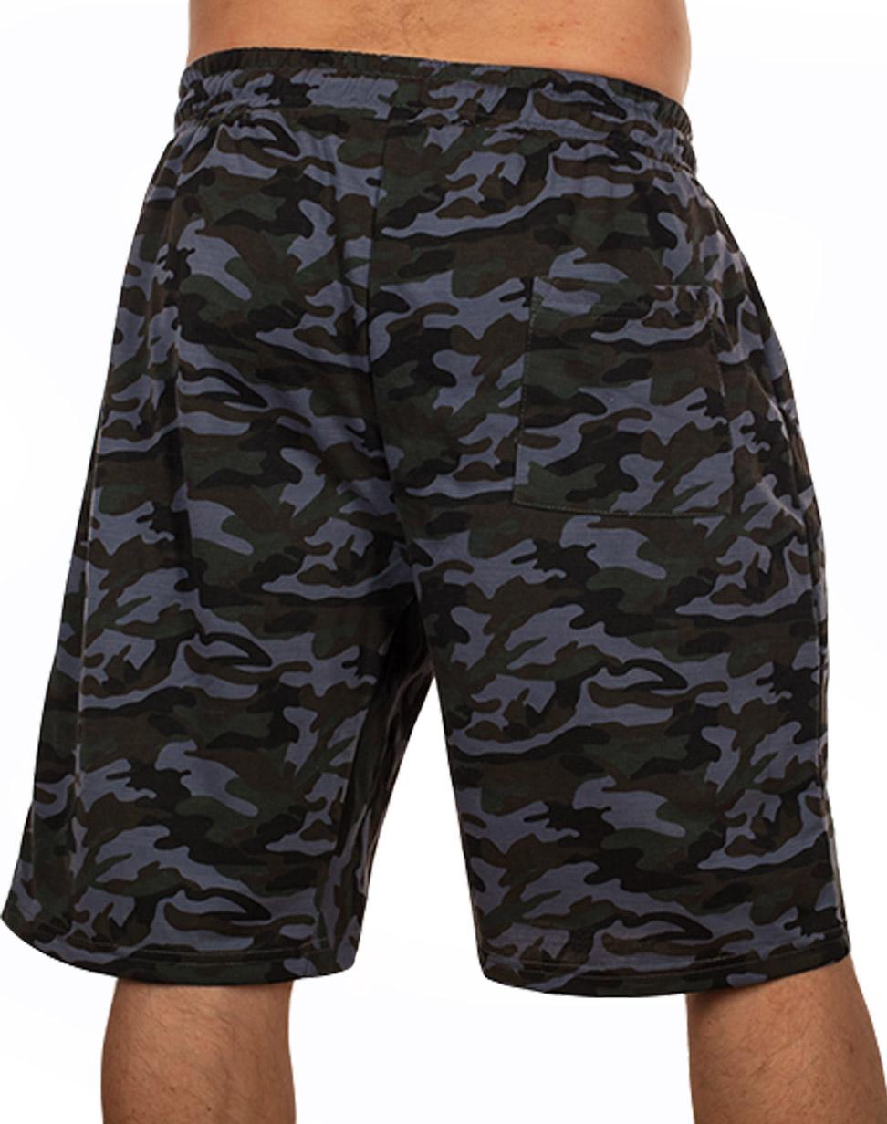 Мужские шорты камуфляж на резинке