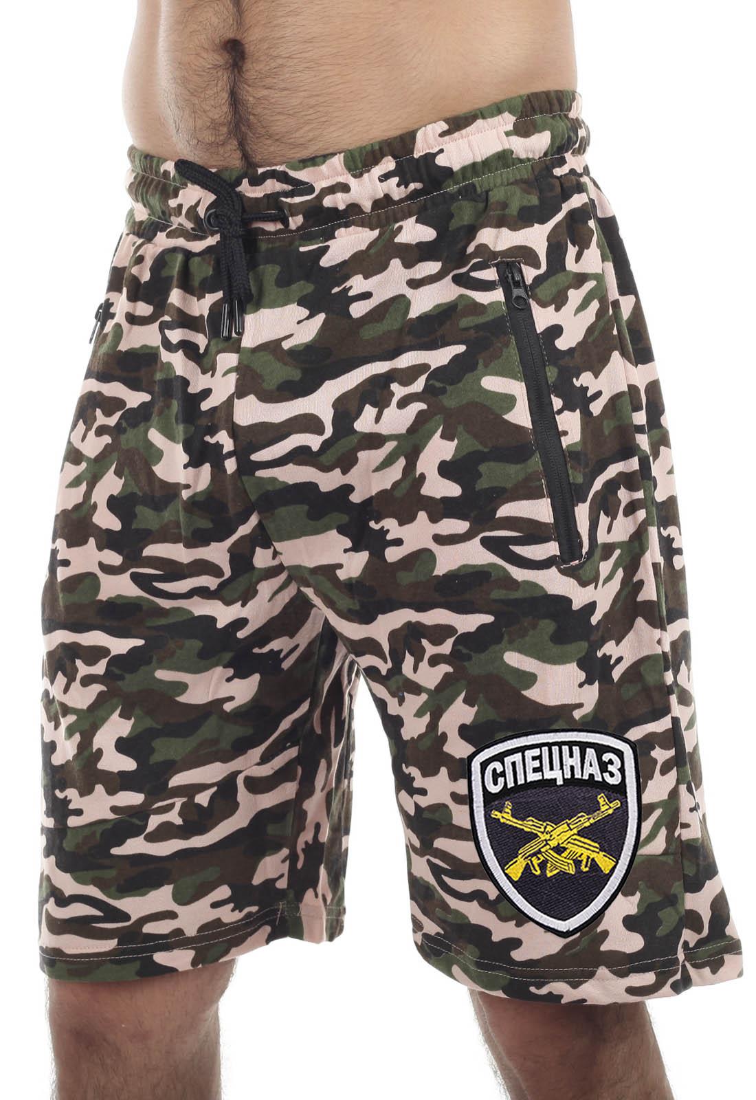 Купить с доставкой камуфляжные мужские шорты СПЕЦНАЗ в интернет магазине Военпро