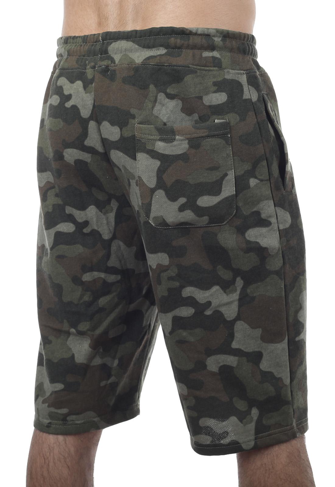 Мужские хлопковые шорты в камуфляже Multicam