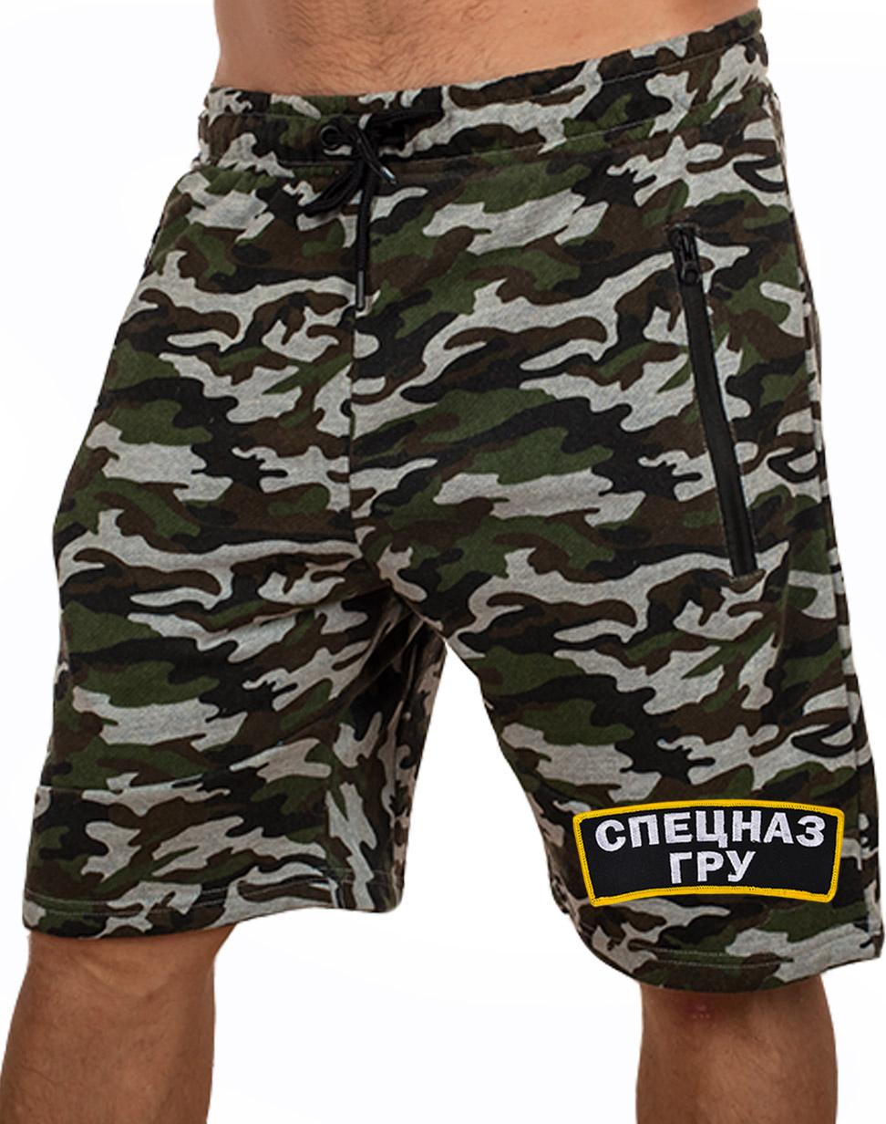 Купить мужские военные шорты с символикой Спецназа ГРУ