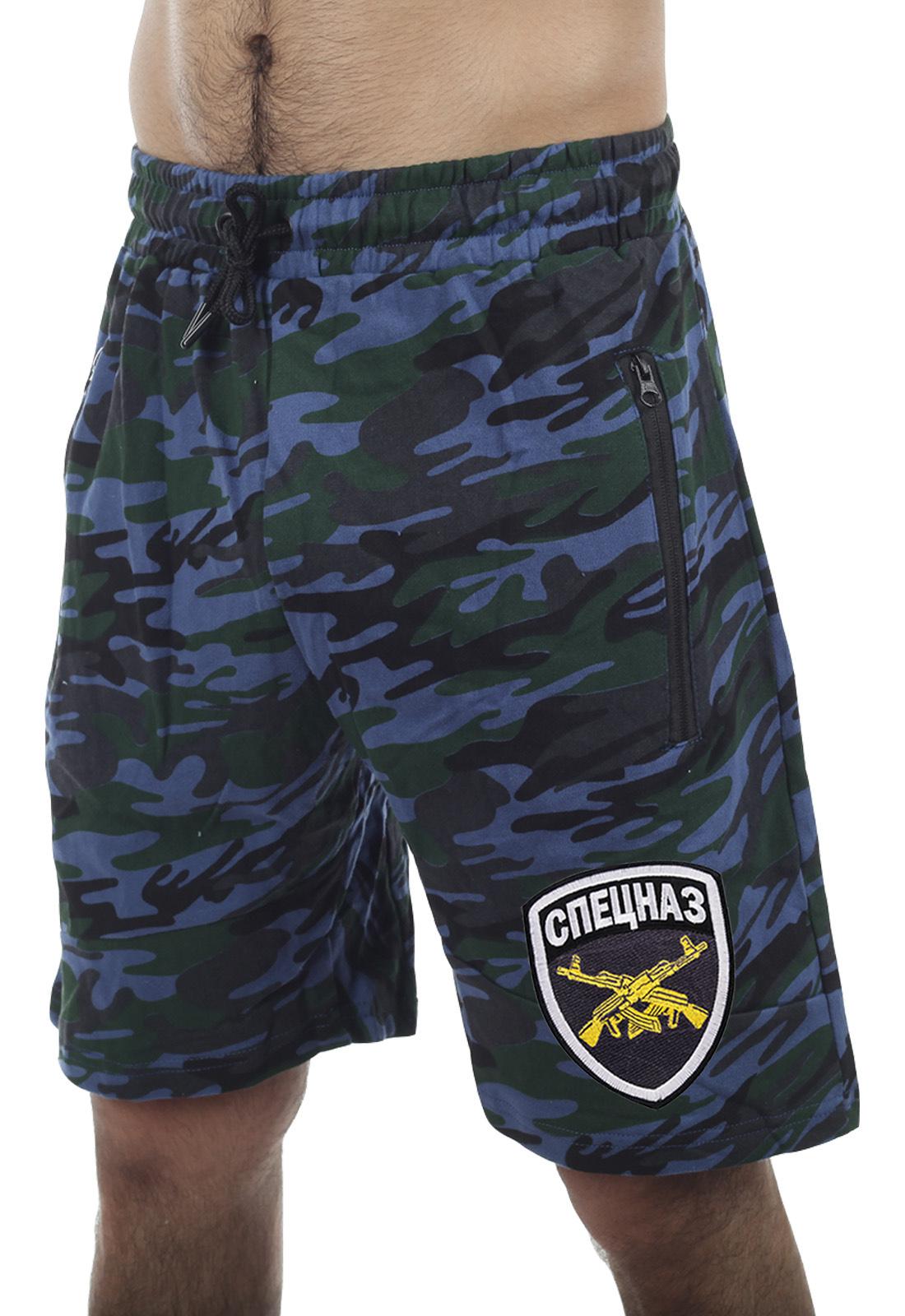 Военные мужские шорты со спецназовской символикой