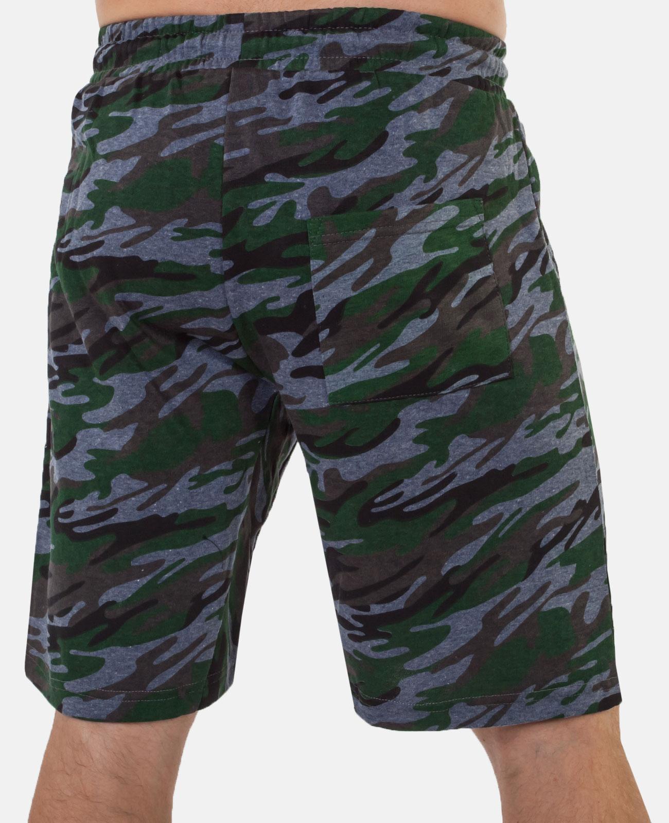 Длинные мужские шорты – камуфляжная расцветка, низкая цена