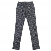 Синие женские брюки Pieces с орнаментом.
