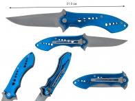 Синий складной нож Assisted Opening Folder 420 BL