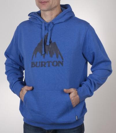Синяя толстовка с изображение гор от Burton. Уникальная модель по отличной цене