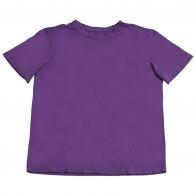 Сиреневая футболка из хлопка. Удобная, практичная модель унисекс