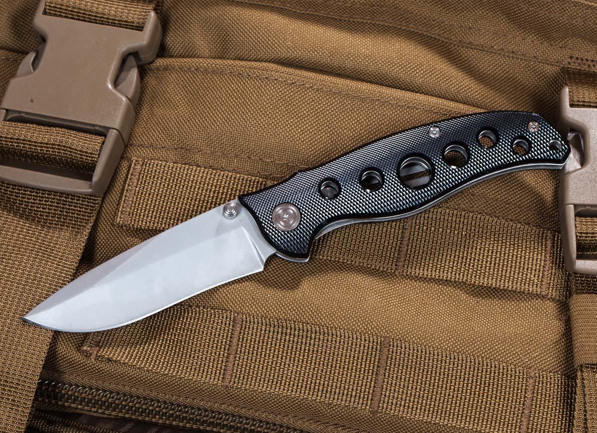 Складной нож EDC Drop Point Black