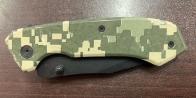 Складной нож с камуфляжной рукояткой