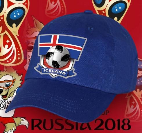 Сочная синяя бейсболка фанату Iceland