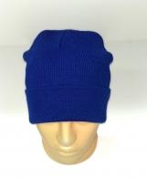 Сочно-синяя классическая шапка