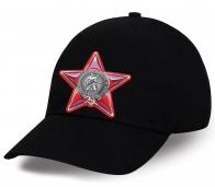 Солидная черная бейсболка к юбилею Советской Армии и Флота. Отменный подарок для серьезных мужчин