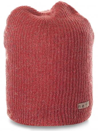 Современная женская шапка Neff с люрексом. Блестящая модель для уверенных девушек