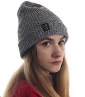 Современная женская шапка от Neff серого цвета
