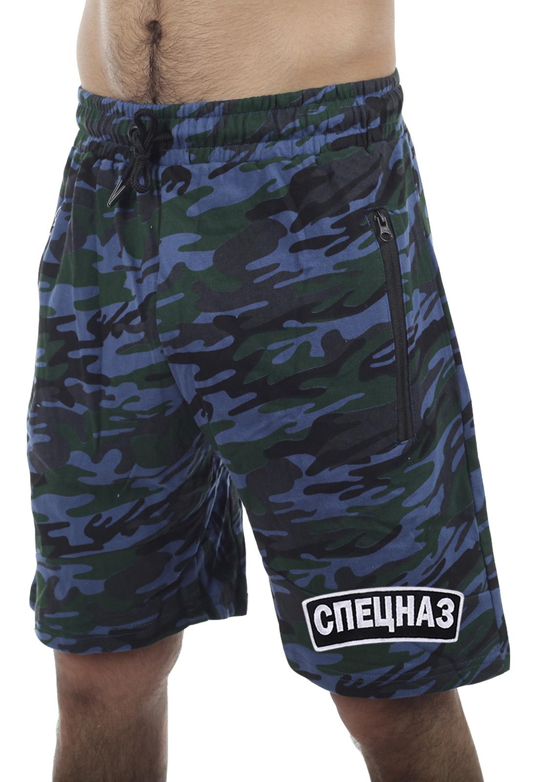 Камуфляжные шорты с вышивкой Спецназ – только в Военпро!