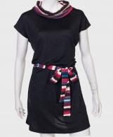 776564636ad Спокойное черное платье от бренда Goa Goa с поясом