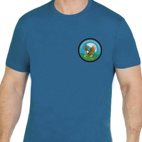 Стильная бирюзовая футболка с вышивкой 103 гв. ВДВ