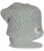 Стильная оригинальная вязаная шапка бренда Obey гарантированный уют и комфорт