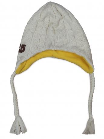 Стильная шапка на флисе с завязками. Оригинальная модель для спортивных девушек. Безупречное качество, доступная цена