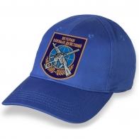 Стильная ярко-синяя бейсболка с термотрансфером Ветеран