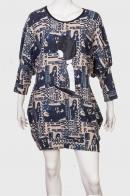 Стильное фигурное платье с акцентом на бедрах