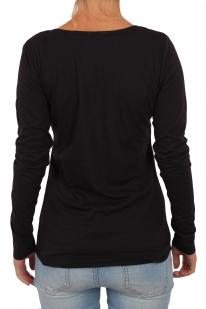 Стильный женский пуловер Panhandle Slim. Эффектный декор груди и всегда модный черный цвет. Смотрится потрясающе даже без аксессуаров!