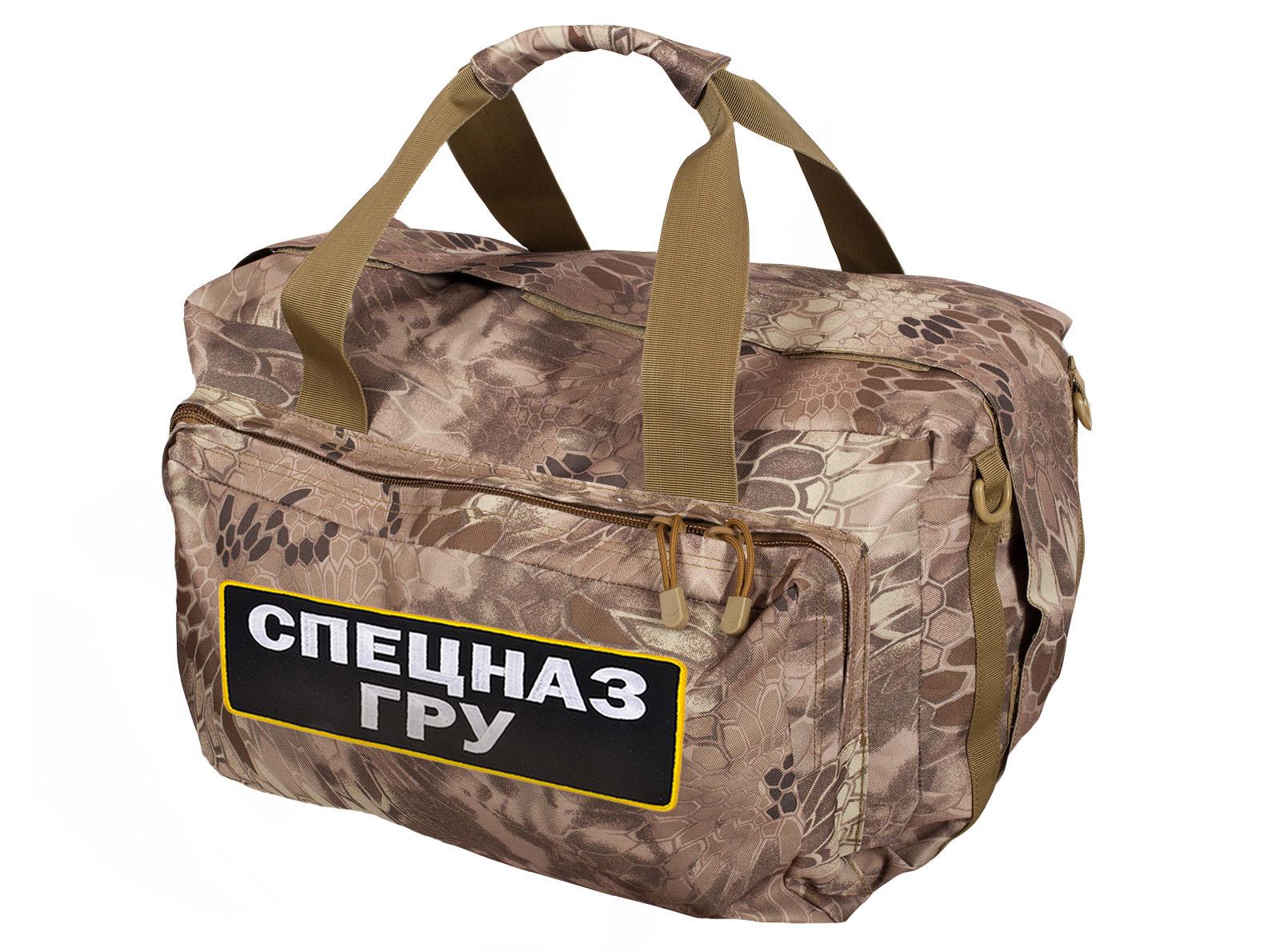 Практичная камуфляжная сумка рюкзак Спецназа ГРУ