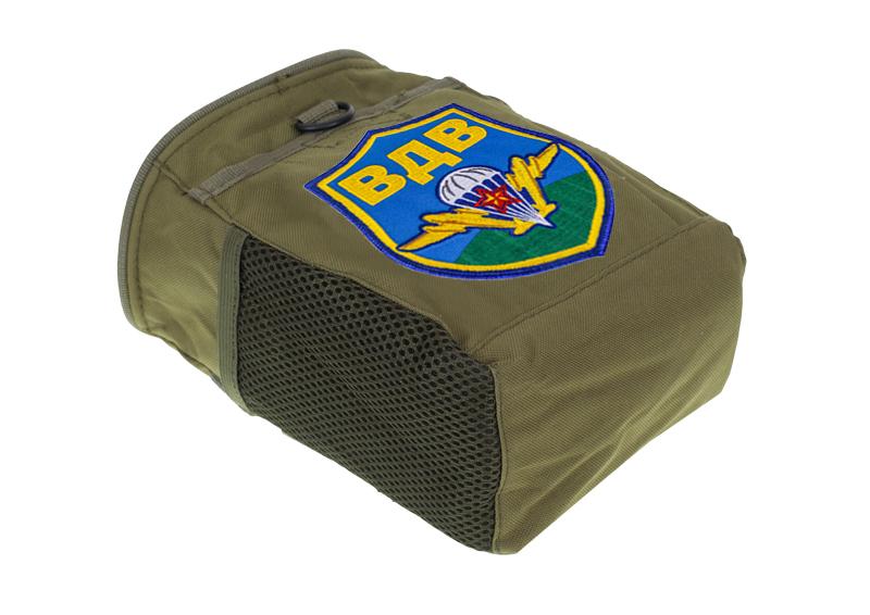 Купить камуфляжную сумку для фляги с нашивкой воздушного десанта
