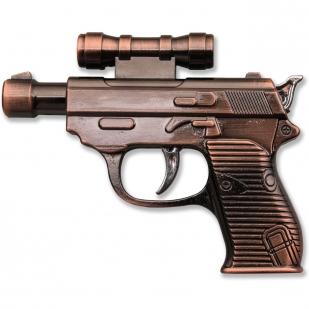 Сувенирная зажигалка-пистолет с лазером
