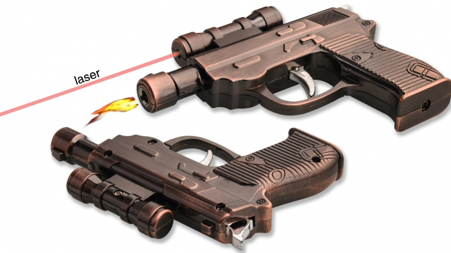 Сувенирная зажигалка-пистолет