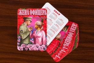 """Сувенирный календарик """"Жене офицера"""" (2019 год) заказать в Военпро"""