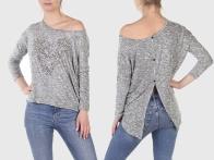 Крутой женский свитер-асимметрия Rock-n-Roll Cowgirl