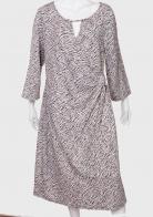 Свободное женское платье с спокойным принтом от Longbao