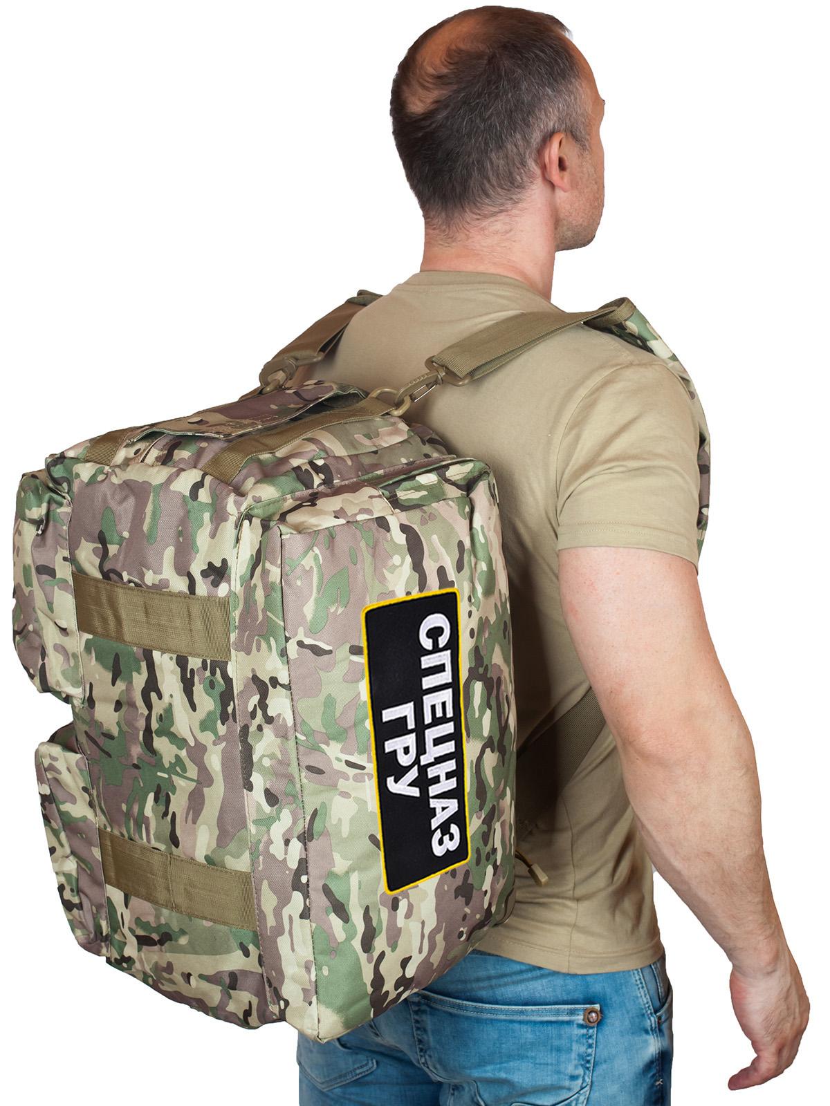 Тактическое снаряжение Спецназа ГРУ в общем доступе – камуфляжная сумка-рюкзак.