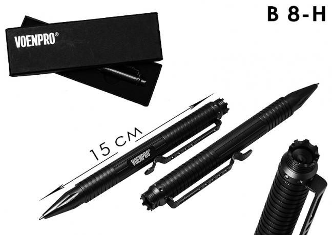 Тактическая ручка UZI черная-общий вид