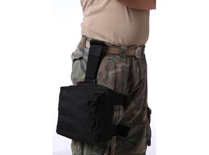 Тактическая сумка на бедро черная
