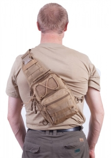 Тактическая сумка-рюкзак хаки-песок