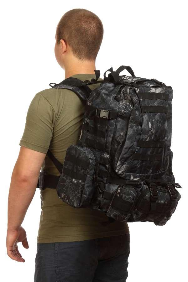Тактический армейский рюкзак (Kryptek Black)