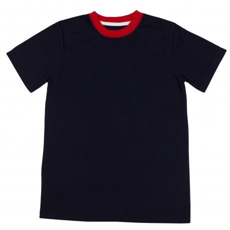 Темная футболка из натуральной ткани