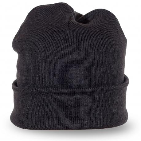 Темно-серая шапка универсальная
