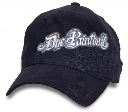 Темно-синяя кепка-бейсболка Doe Paintball.