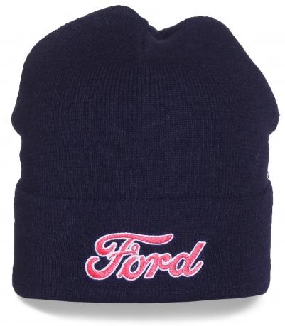 Темно-синяя шапка Ford. Достойное качество, безупречный вид