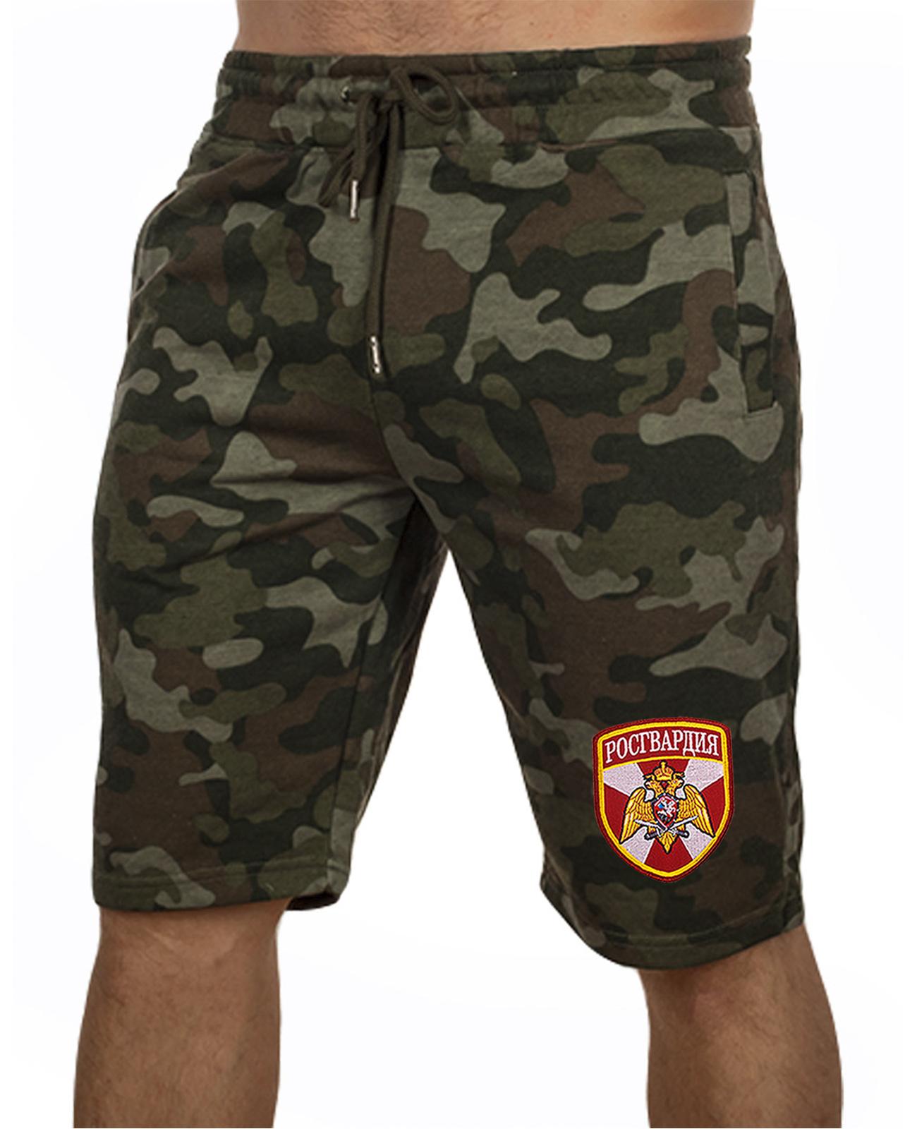 Купить темные армейские шорты с нашивкой Росгвардия с доставкой в ваш город