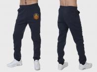 Теплые спортивные мужские брюки УГРО на флисе