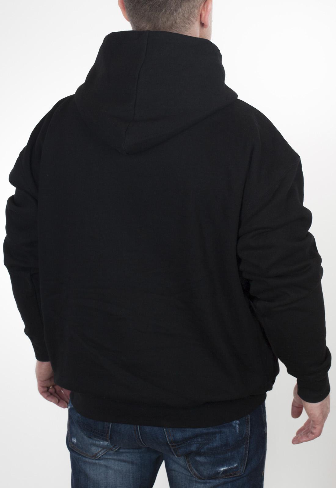 Купить в интернет магазине черную мужскую толстовку с капюшоном
