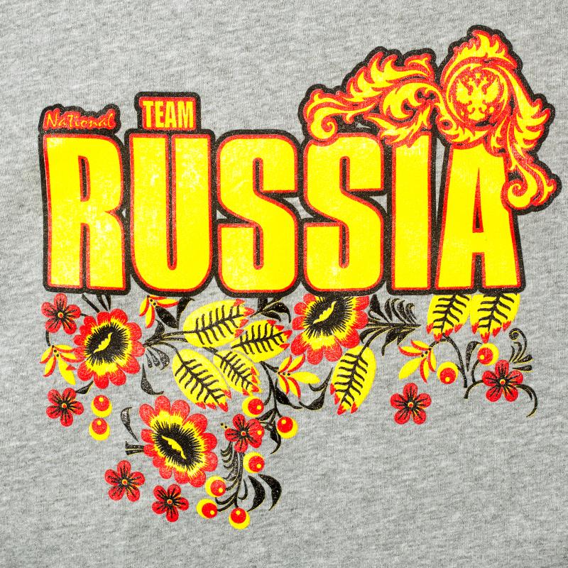 Толстовка RUSSIA серая